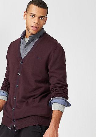 Vest met een gestreepte zoom
