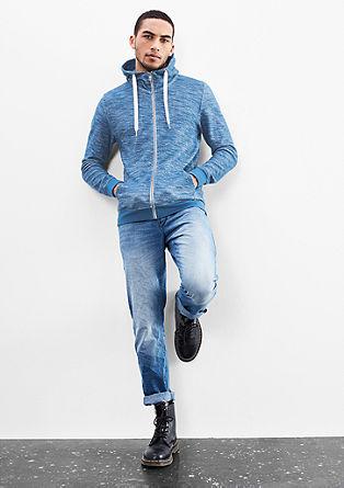 Vest met rits en two-tone-look