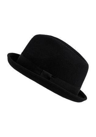 Vilten hoed met smalle rand