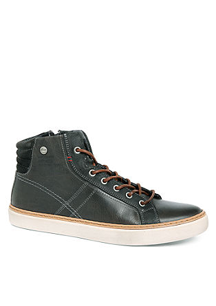 Vintage High Sneaker aus Leder