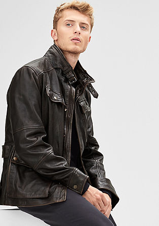 Vintage jacket in nappa leather from s.Oliver