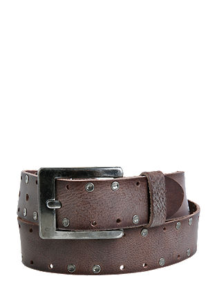 Vintage leather belt with studs from s.Oliver
