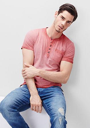 Vintage-Shirt mit kurzer Knopfleiste