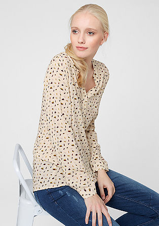 Viscose blouse met een kleine print