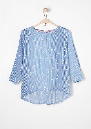 Viscose blouse met een langer achterpand