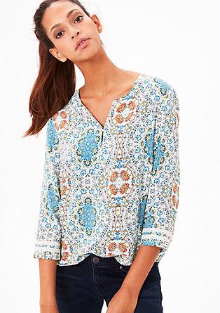 Viscose blouse met een motief
