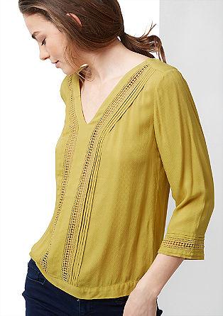 Viscose blouse met etnische look