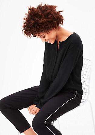 Viscose blouse met sierboord