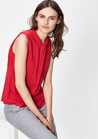 Viscose blouse with a draped detail from s.Oliver