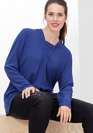 Viscose blouse with a layered effect from s.Oliver