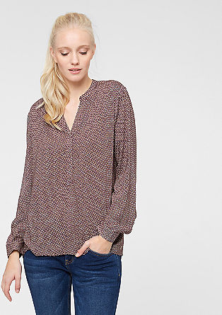 Viscose blouse with a minimalist pattern from s.Oliver