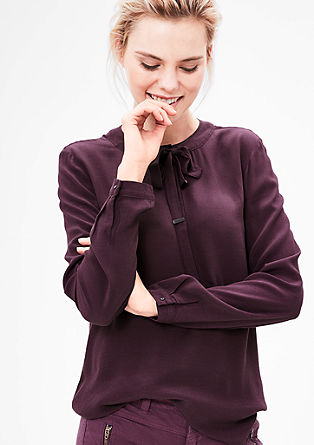 Viscose blouse with bow from s.Oliver