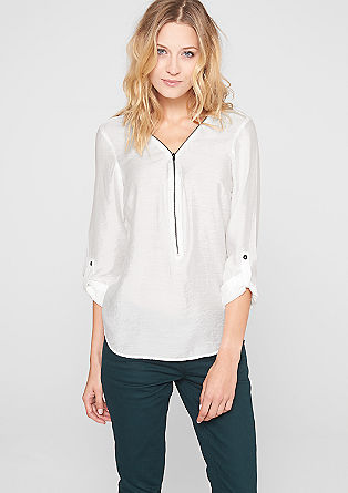 Viscose blouse with zip detail from s.Oliver