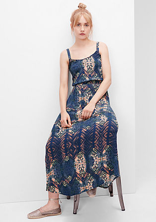 Viscose crêpe maxi dress from s.Oliver