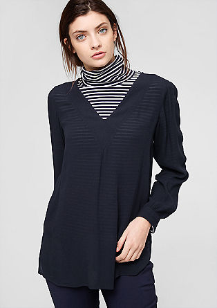 Viscose crêpe tunic from s.Oliver