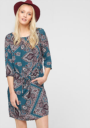 Viscose dress in a mix of patterns from s.Oliver