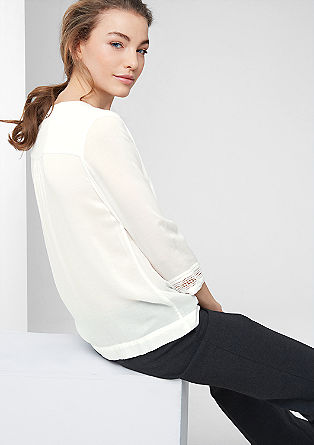 Viscose ethnic blouse from s.Oliver