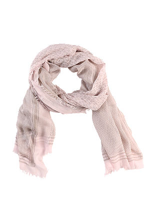 Viscose scarf with a fine pattern from s.Oliver