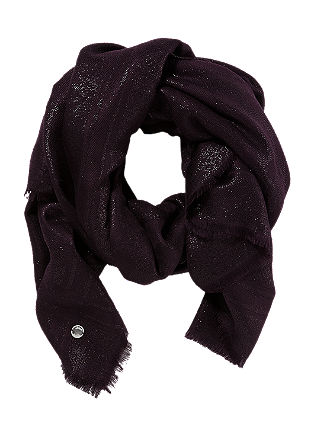Viscose scarf with a glitter effect from s.Oliver