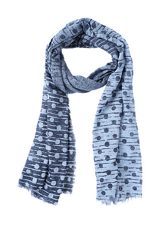 Viscose scarf with a polka dot pattern from s.Oliver