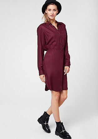 Viscose shirt dress from s.Oliver