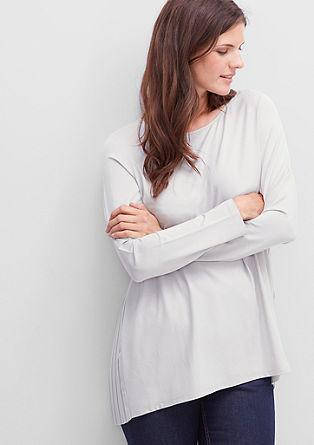 Viscose-shirt met een geplisseerde achterzijde