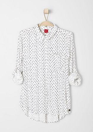 Viscose shirt met een motiefprint
