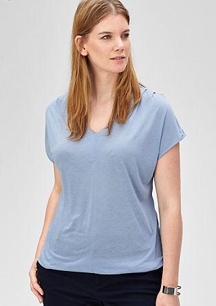 Viscose-shirt met fijne strepen