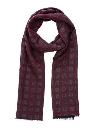 Viscose sjaal met een motief