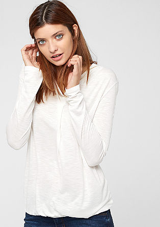 Viscose top with a draped effect from s.Oliver
