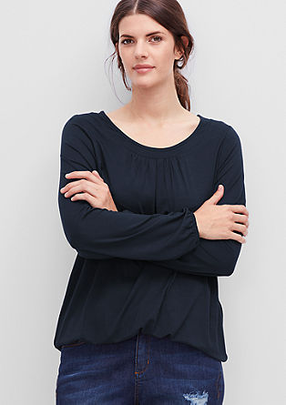 Viscose top with a neckline trim from s.Oliver