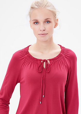 Viscose top with smocked details from s.Oliver