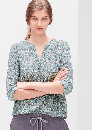 Viskose-Bluse mit Musterprint