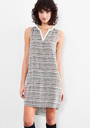 Viskose-Kleid mit Minimalmuster