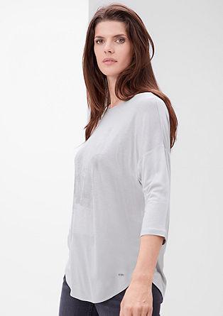 Viskose-Shirt mit subtilem Print