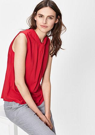 Viskozna bluza z naborki