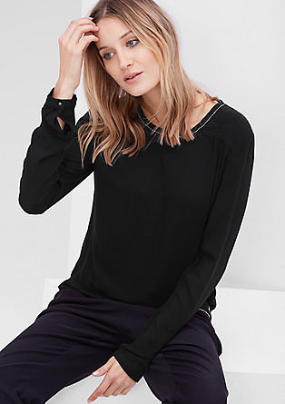 Viskozna bluza z okrašenim šivom