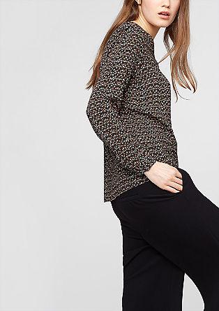 Viskozna bluza z V-izrezom