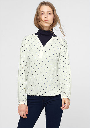 Viskozna bluza z večkratnim tiskom