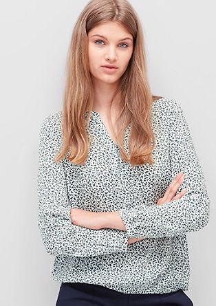Viskozna bluza z vzorčastim potiskom