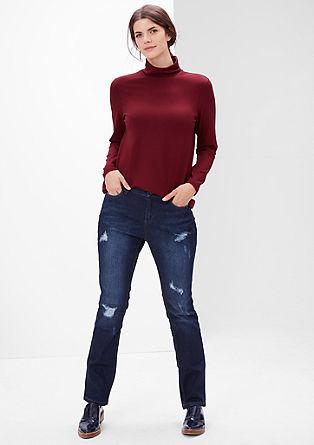 Viskozna majica s puli ovratnikom