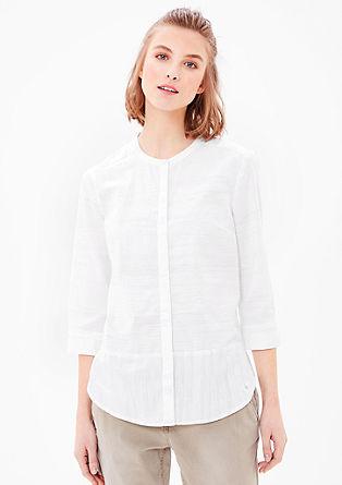 Visoko zaprta bluza iz bombaža