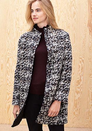 Vlněný kabát smelírovaným vzhledem