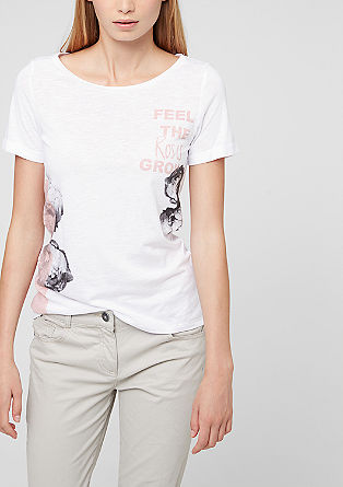 Vokuhila-Shirt mit Frontprint