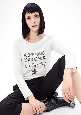 Vokuhila-Shirt mit Schriftzug