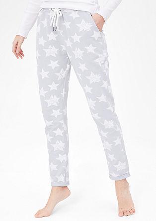 volnočasové kalhoty s hvězdami