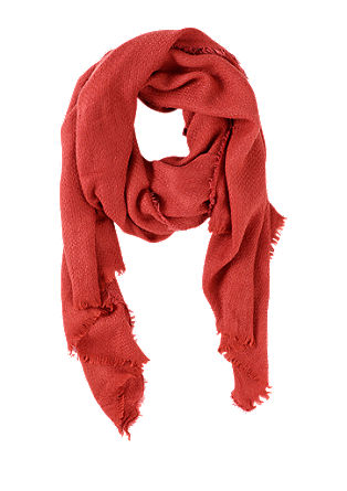 Voluminous woven scarf with fringing from s.Oliver