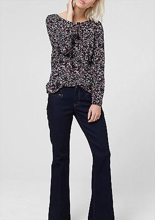 Vrouwelijke viscose blouse