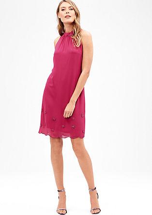 Vyšívané šifónové šaty