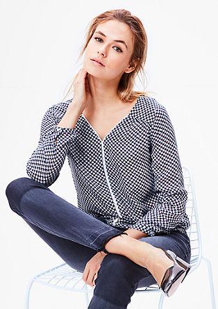 Vzorčasta bluza iz viskoze